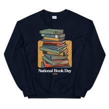 Load image into Gallery viewer, BuzzFeed Stack O' Books Book Day Sweatshirt