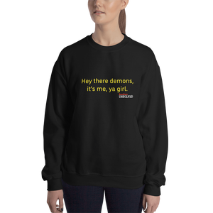 BuzzFeed Unsolved Hey There Demons Girl 2.0 Sweatshirt