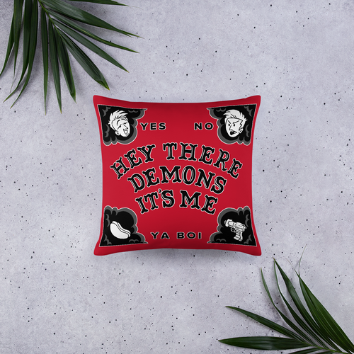 BuzzFeed Unsolved Hey There Demons Board Pillow