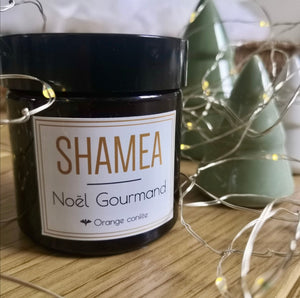 Bougie SHAMEA - Noël gourmand - Orange confite