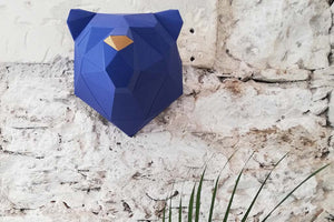 Ours origami bleu Navy or
