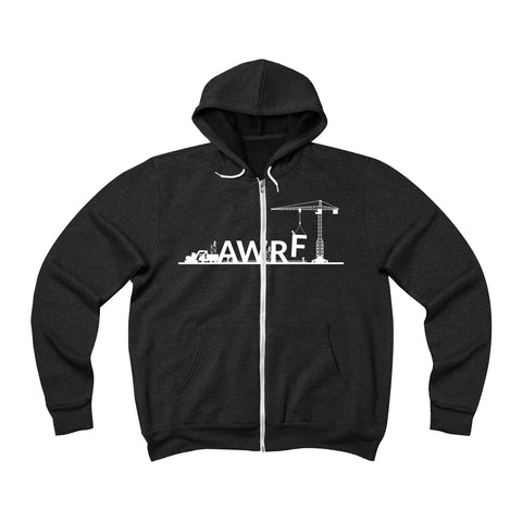 Lifting with AWRF Unisex Sponge Fleece Full-Zip Hoodie
