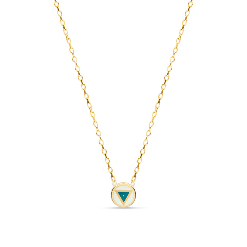 This handmade 14 karat gold necklace is the perfect every day gold accessory.