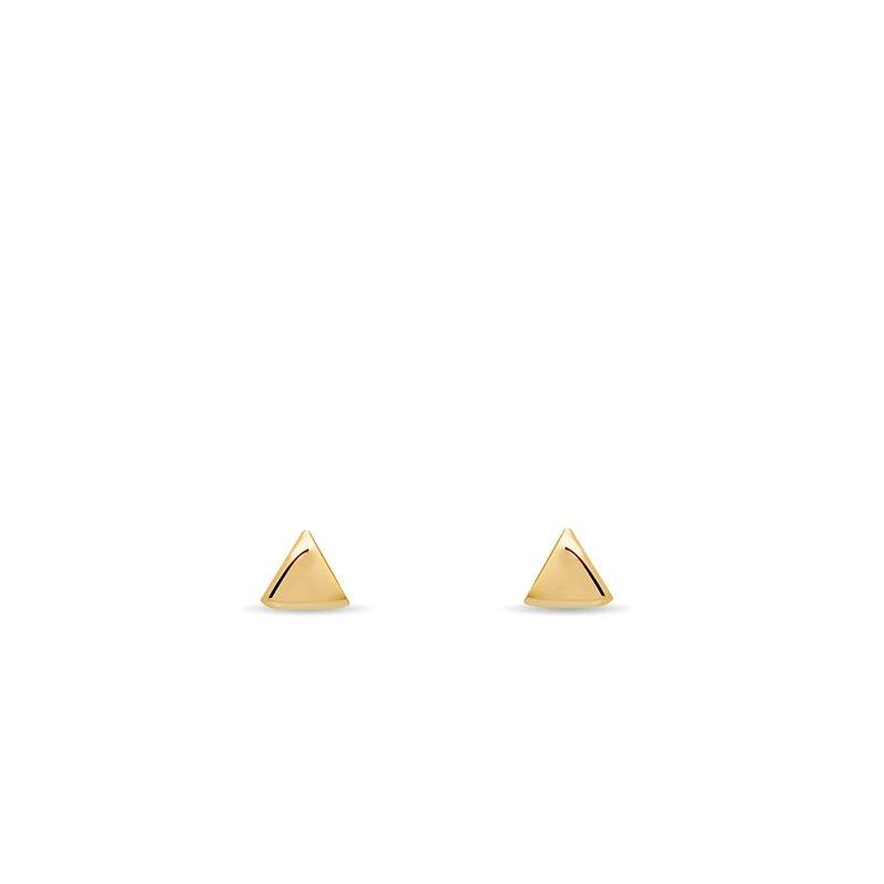 Arrow Rose Earring - 14 karat gold earring, rose enamel