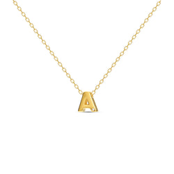 A gold vermeil necklace with your initial letter. This letter necklace is a special jewelry piece that can be worn day and night. A genuine diamond stone in the corner of the letter makes this gold necklace a luxury and ideal gift for yourself, your best friend or loved one.
