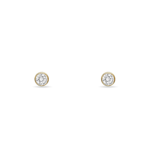 Sapphire Stud Earring - 14K Gold, Sapphire 0.33ct