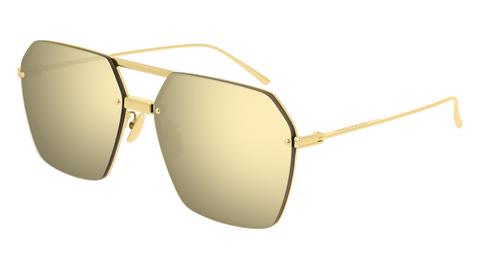 Aviator gold mirror