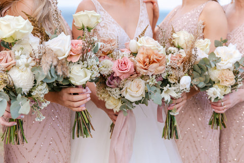 Nude, Luxe, Rose Bridal and Bridal Party Bouquets, Geelong Wedding