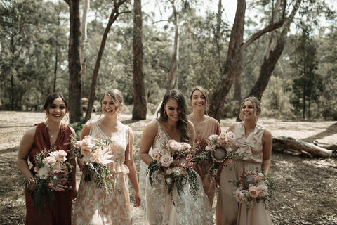 Stunning Nude and Luxe Bouquets in Geelong and Melbourne Wedding