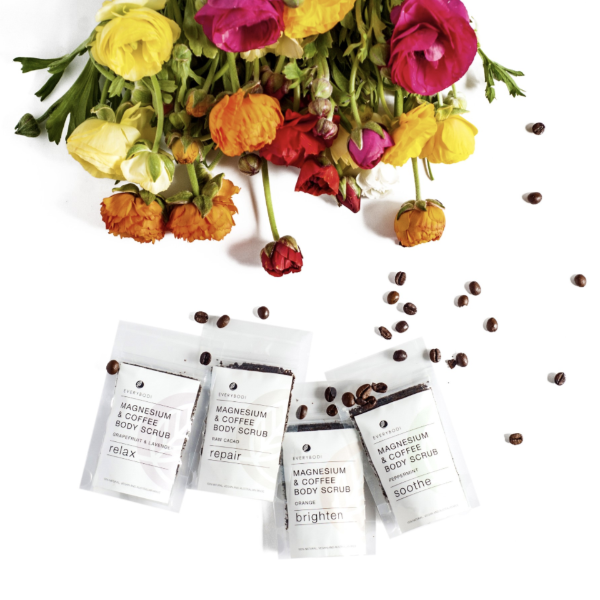 Travel Pack – Mini Coffee Body Scrub - Lustre Blooms fresh flowers Geelong