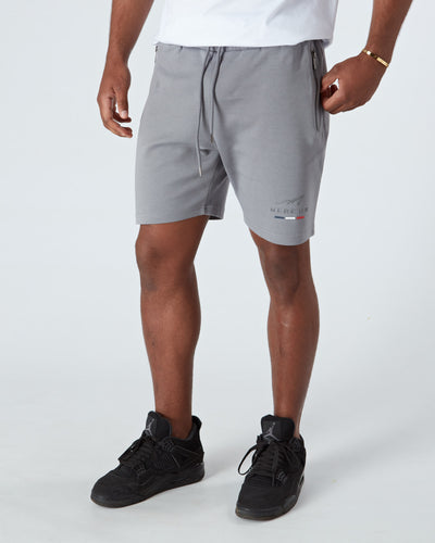 Pebble Grey Raised Signature Shorts