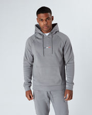 Pebble Grey Raised Signature Hoodie