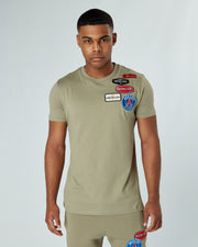 Olive Paris Badge Tshirt