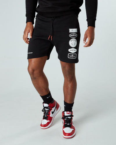 Black Paris Badge 2.0 Shorts