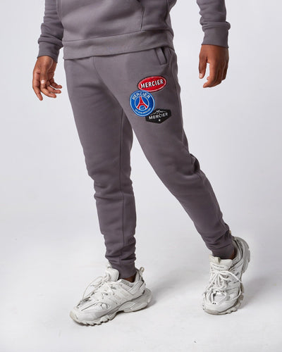 Steel Grey Paris Badge Bottoms