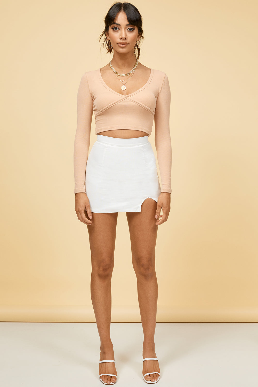 white mini skirt, white skirt, white linen skirt