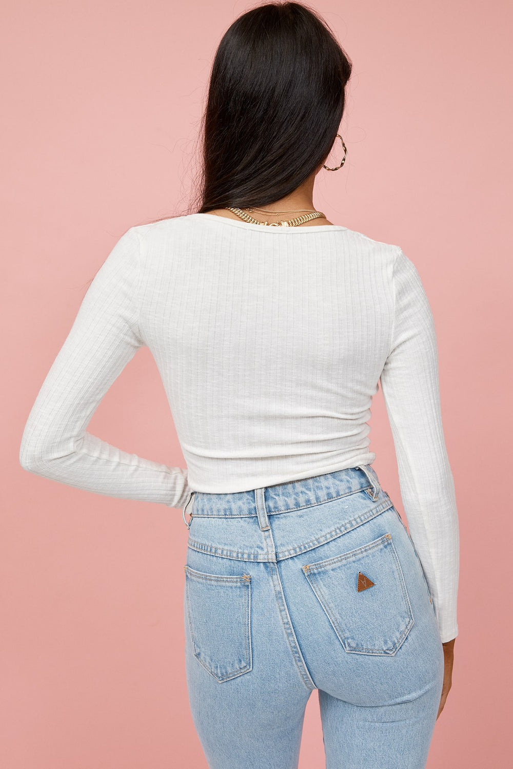 white long sleeve crop top, long sleeve crop top, white crop top