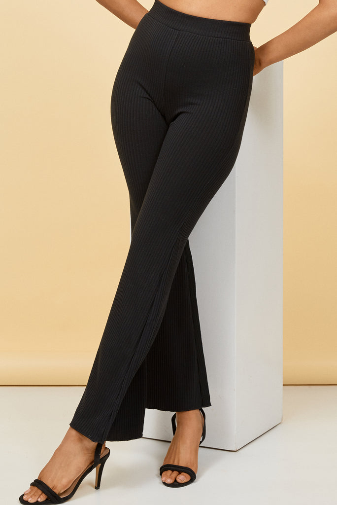 black high waisted pants, high waisted flare pants, black flare pants