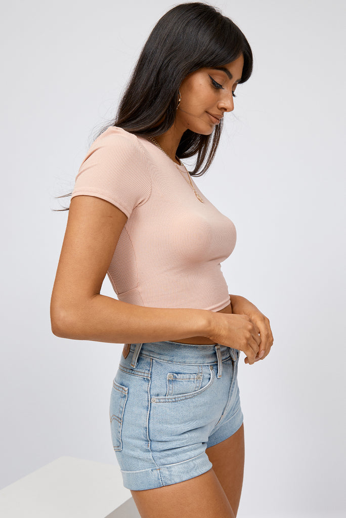 crop top, pink crop top, backless crop top