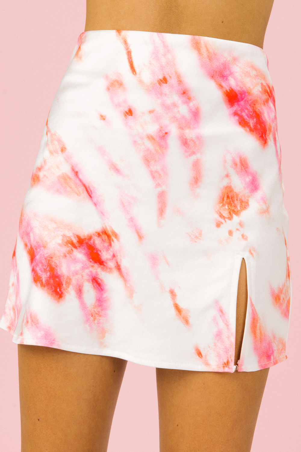 Art Of Life Mini Skirt in Pink Tie Dye | Peaches & Cream Label