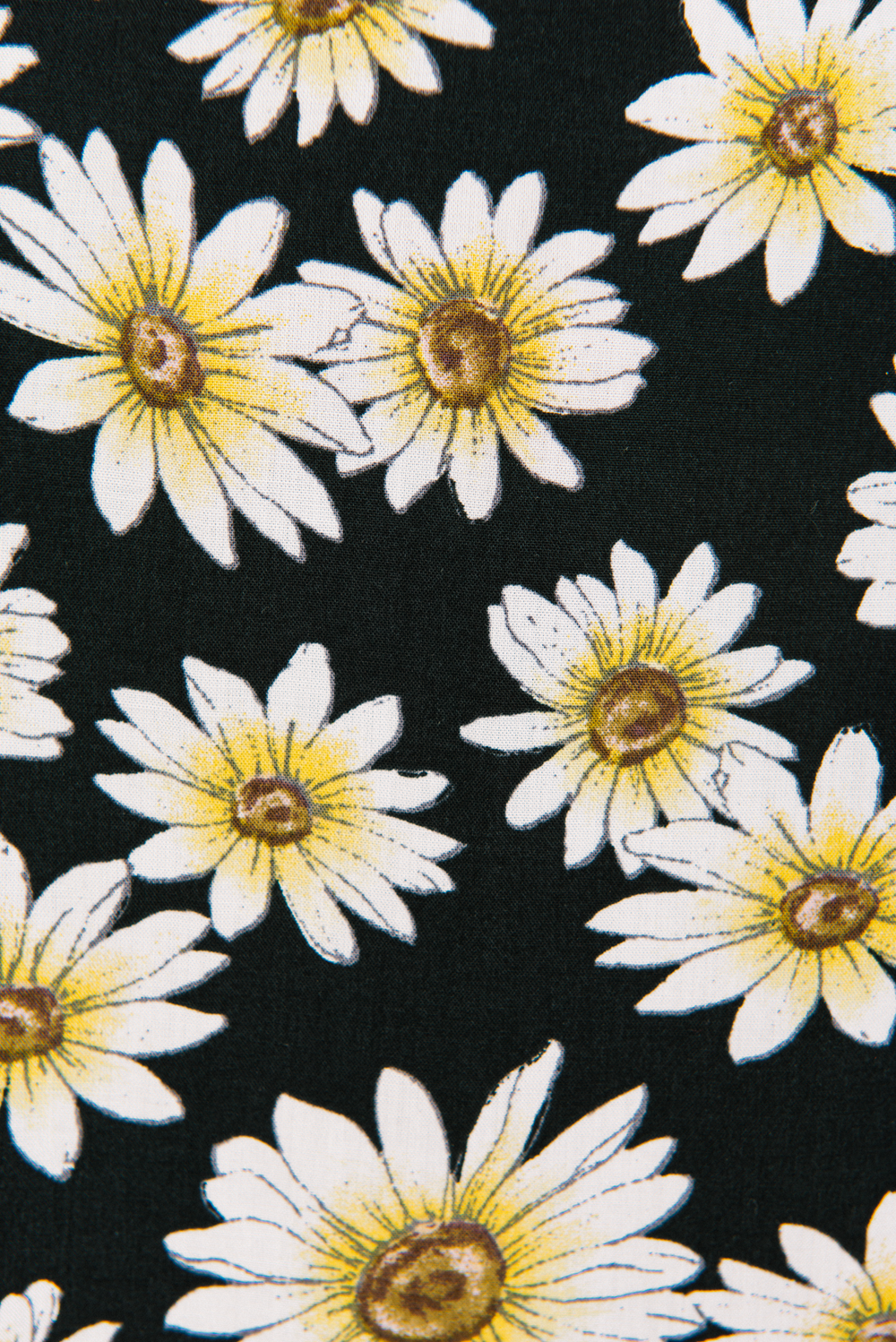 Field Of Daisies Mini Dress in Black Floral | Peaches & Cream Label