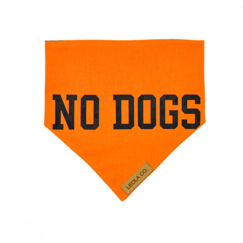 No Dogs - Awareness Dog Bandana