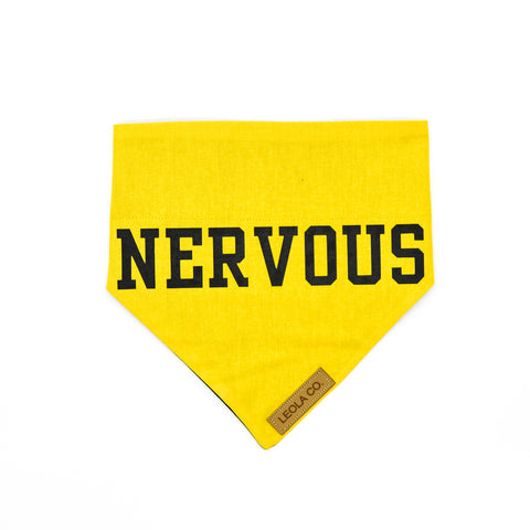 Nervous - Awareness Dog Bandana
