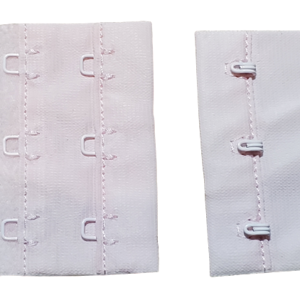 Hook And Eye - 2x3x3 / 4 Sachet de 100 - Rose (P13-1404)