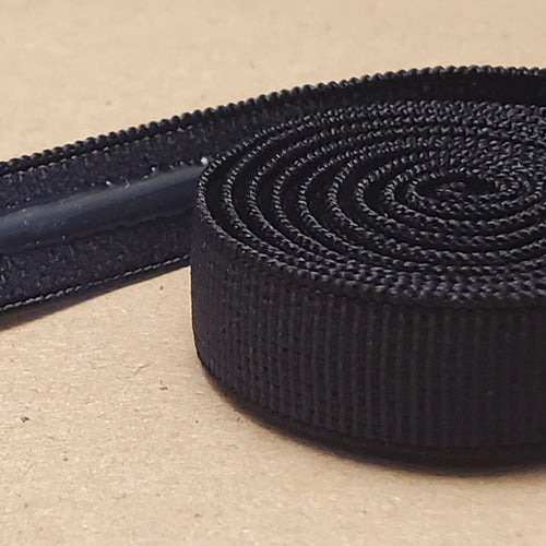 Black non slip strap elastic (silicone strip) for Bras 3/8