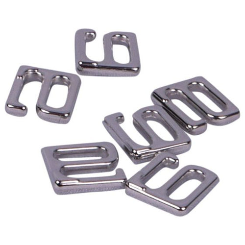 Hooks - Shiny Silver (Nickel Free) Metal (16xx) - 6 Sizes