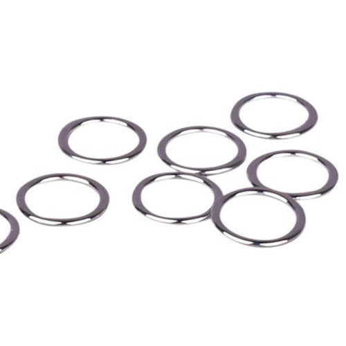 Rings - Shiny Silver (Nickel Free) Metal