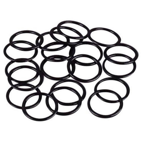 Black Nylon Coated Steel Rings x 100 Pieces