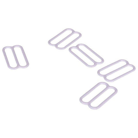 White Nylon Coated Steel Sliders x 100 Pieces - Dyeable