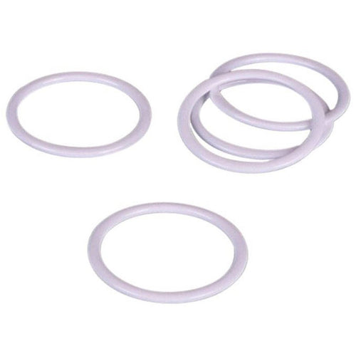 Rings Nylon Coated Steel - White Dyeable - 11 Sizes