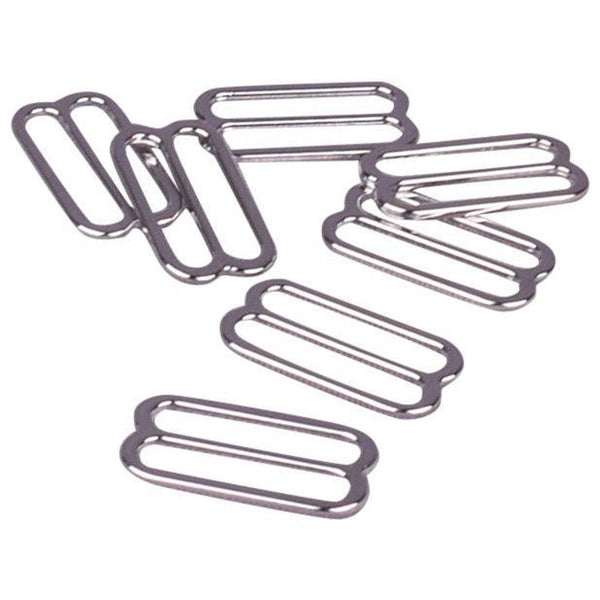 Slider / Adjuster - Shiny Silver (Nickel Free) Metal Sliders - (316xx)