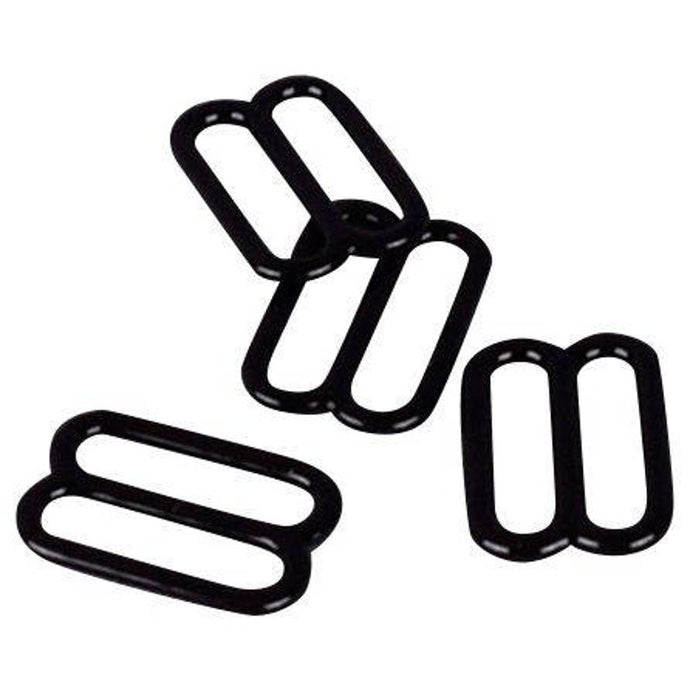 Black Nylon Coated Steel Sliders