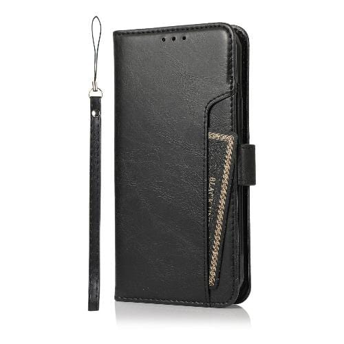 Black iPhone 12 Mini Wallet Case - Leather Wallet Series Case