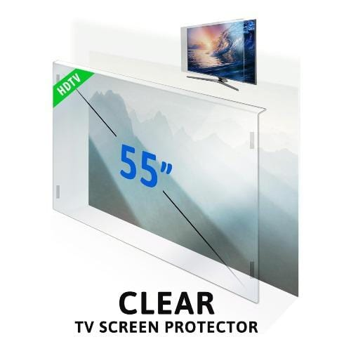 55 inch ZeroDamage Tempered Glass TV Screen Protector - Sahara Case LLC