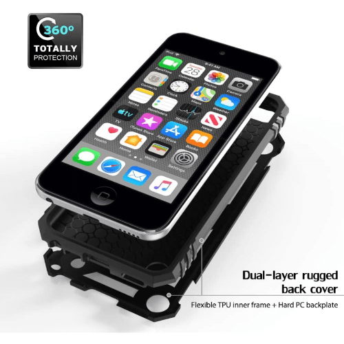 SaharaCase Military Kickstand Case New iPod Touch (6th and 7th Generation) Black - Sahara Case LLC