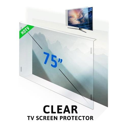 75 inch ZeroDamage Tempered Glass TV Screen Protector - Sahara Case LLC
