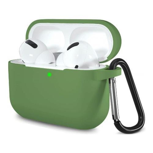 Silicone AirPods Pro (2019) Case in Military Green - Protective Silicone Case Kit