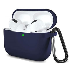 Silicone AirPods Pro Case in Navy Blue - Protective Silicone Case Kit
