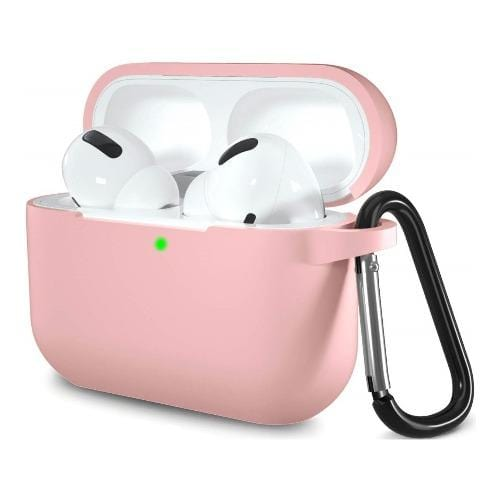 Silicone AirPods Pro (2019) Case in Pink - Protective Silicone Case Kit