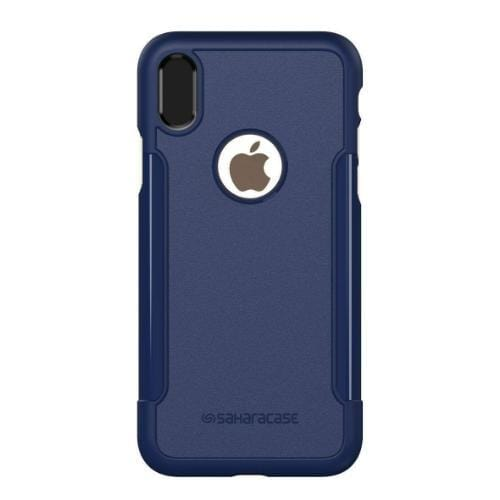 Classic Case & Glass Screen Protection Kit - iPhone X/XS Navy - Sahara Case LLC