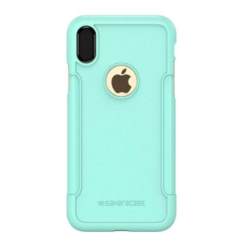 Classic Case & Glass Screen Protection Kit - iPhone X/XS Teal - Sahara Case LLC