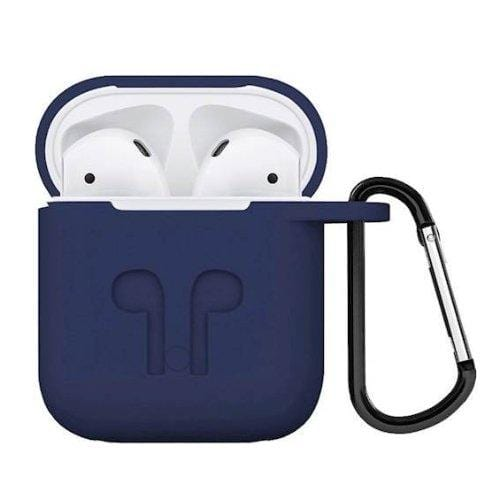Navy Blue Silicone AiPods Case - AirPods Generation 1 & 2 - Classic Care Protection Kit