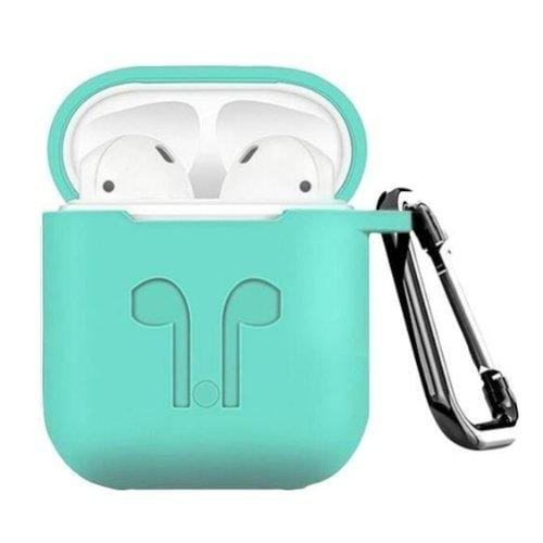 Rugged Oasis Teal Silicone AirPods Case - AirPods Generation 1 & 2 - Classic Case Protection Kit