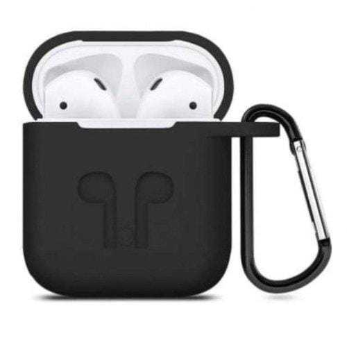Scorpion Black Silicone AirPods Case - AirPods Generation 1 & 2 - Classic Case Protection Kit