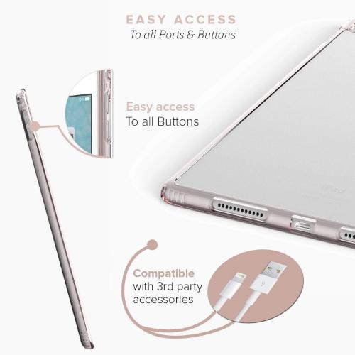 "Crystal Case & Glass Screen Protection Kit- iPad Pro 9.7"" Clear Rose Gold - Sahara Case LLC"