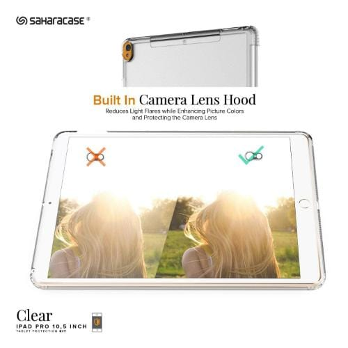 "Crystal Case & Glass Screen Protection Kit - iPad Pro/Air 10.5"" (2017/2019) Clear - Sahara Case LLC"